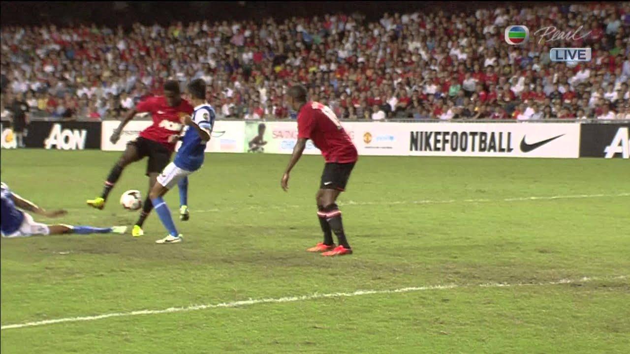20130729 國際足球友誼賽 -- 傑志 對 曼聯 上半場 - YouTube