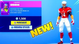 NEW! NFL SKINS! (Item Shop Showcase) Fortnite Battle Royale