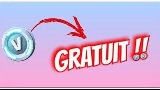 AVOIR DES V-BUCKS GRATUITEMENT !! (Fortnite Battle Royale) 🐠