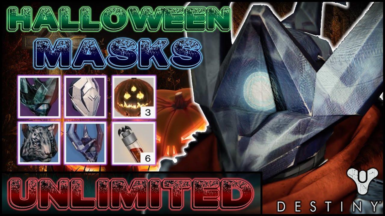 Destiny TTK - UNLIMITED HALLOWEEN MASKS   How To Farm HALLOWEEN ...