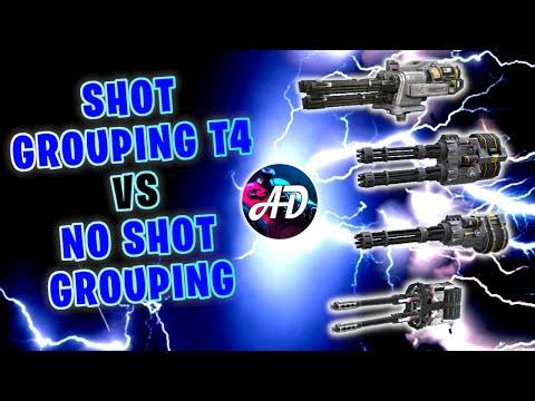 Shot Grouping T4 VS NO Shot Grouping MACHINE GUNS - War Robots Mk2 MAX Comparison Gameplay WR
