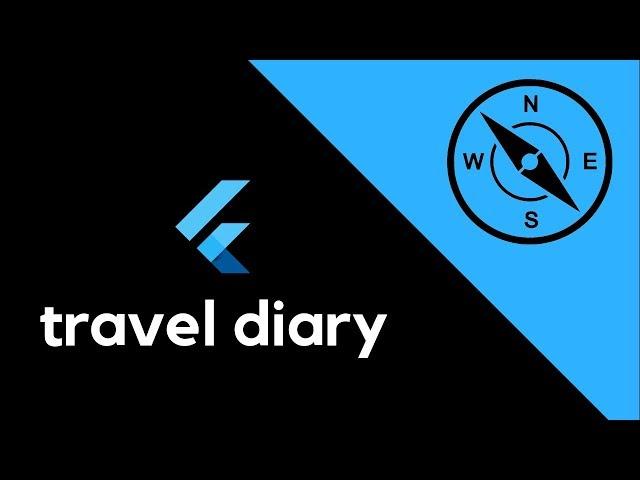 Flutter UI - Minimal travel diary