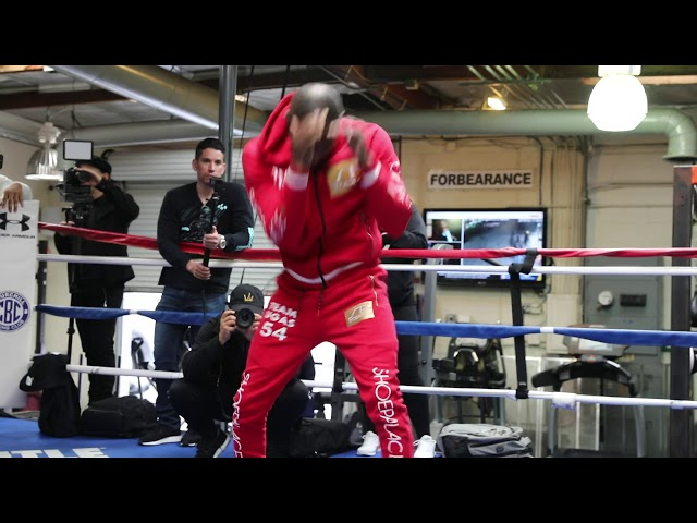 YORDENIS UGAS LOOKING FLUID & FRESH FOR SHAWN PORTER DURING MEDIA WORKOUT