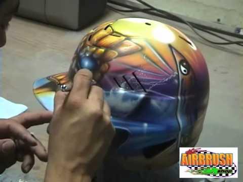 Airbrushing (Softball Helmet) Airbrush Batting Helmets