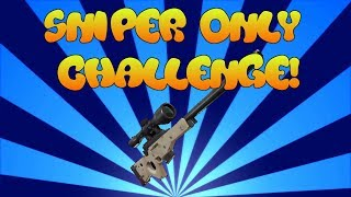 Sniper Only Challenge! ROBLOX Island Royale!