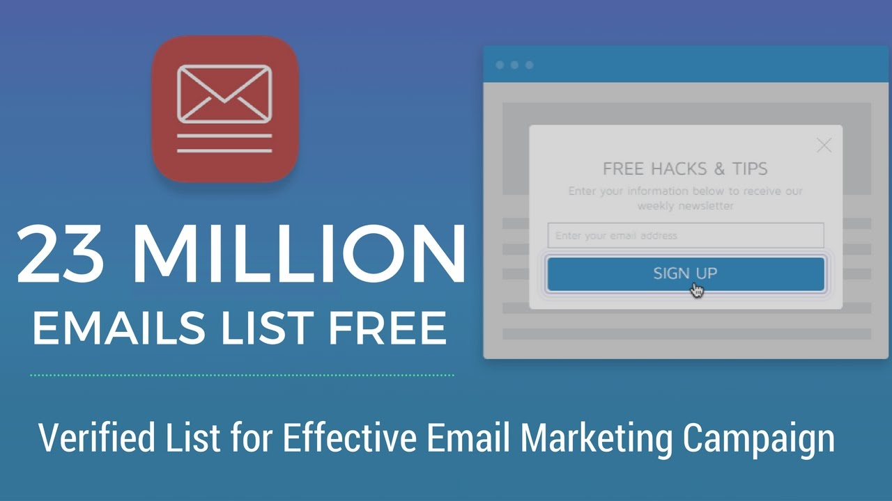 Email Marketing: Download 23 Million Verified Emails List Free ...
