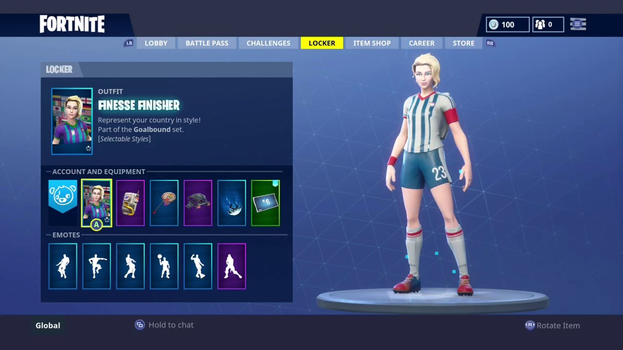 New Fortnite Soccer Skins Finesse Finisher Showcased In 32 Different Countries Youtube