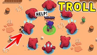 Bear Troll vs NOOB !! Funny Moments Brawl Stars #37