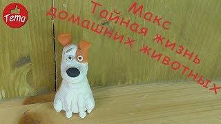 Лепим из пластилина Макса из мультфильма Тайная жизнь домашних животных