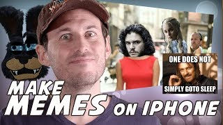How to make a Meme for FREE with iPhone, Photo Grid Tutorial