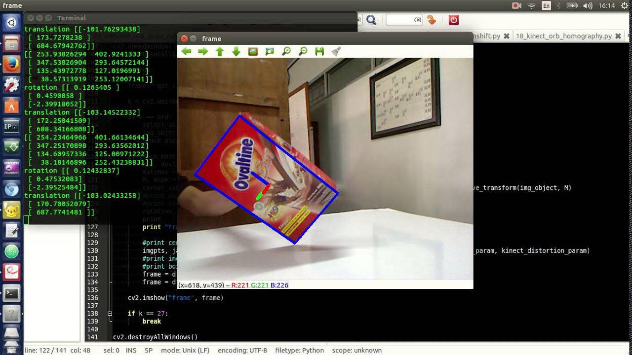 3  Object Tracking and Attitude / Pose Estimation Using Homography + PnP  (OpenCV + Python)