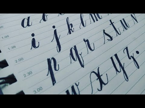 How To Draw Cursive Small Alphabets   Copperplate Alphabets Calligraphy   Make Your Own Fonts