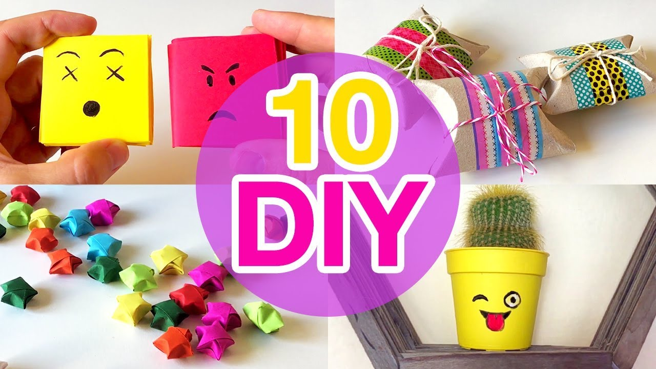 5 Minute Crafts To Do When Youre BORED 10 Quick And Easy DIY Ideas Amazing DIYs Craft Hacks