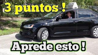 COMO HACER LOS TRES PUNTOS -TIPS PARA EL EXAMEN DE MANEJO manejar carro examen de conducir