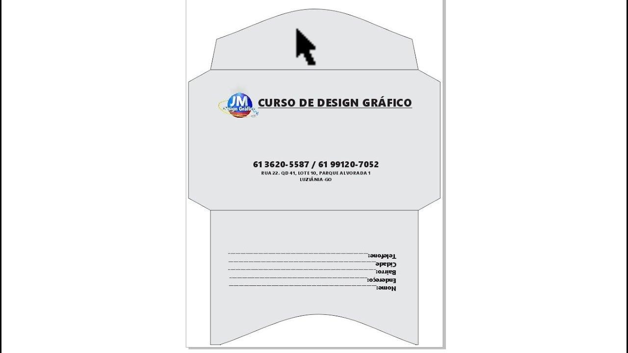 Curso De Corel Draw X7 Como Fazer Um Envelope Carta No Corel Aula