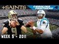 The Rookie Duels the Vet! (Saints vs. Panthers, 2011)   NFL Vault Highlights