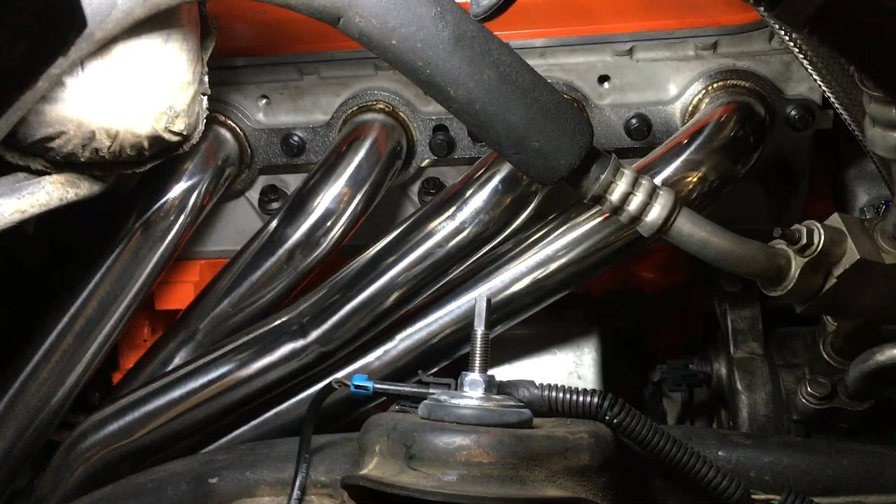 Long Tube Headers Y Pipe Install On Chevy Tahoe 5 3 Vortec Gm