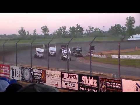 Jamestown Speedway NOSA Sprint Car B-Main (6/10/17)