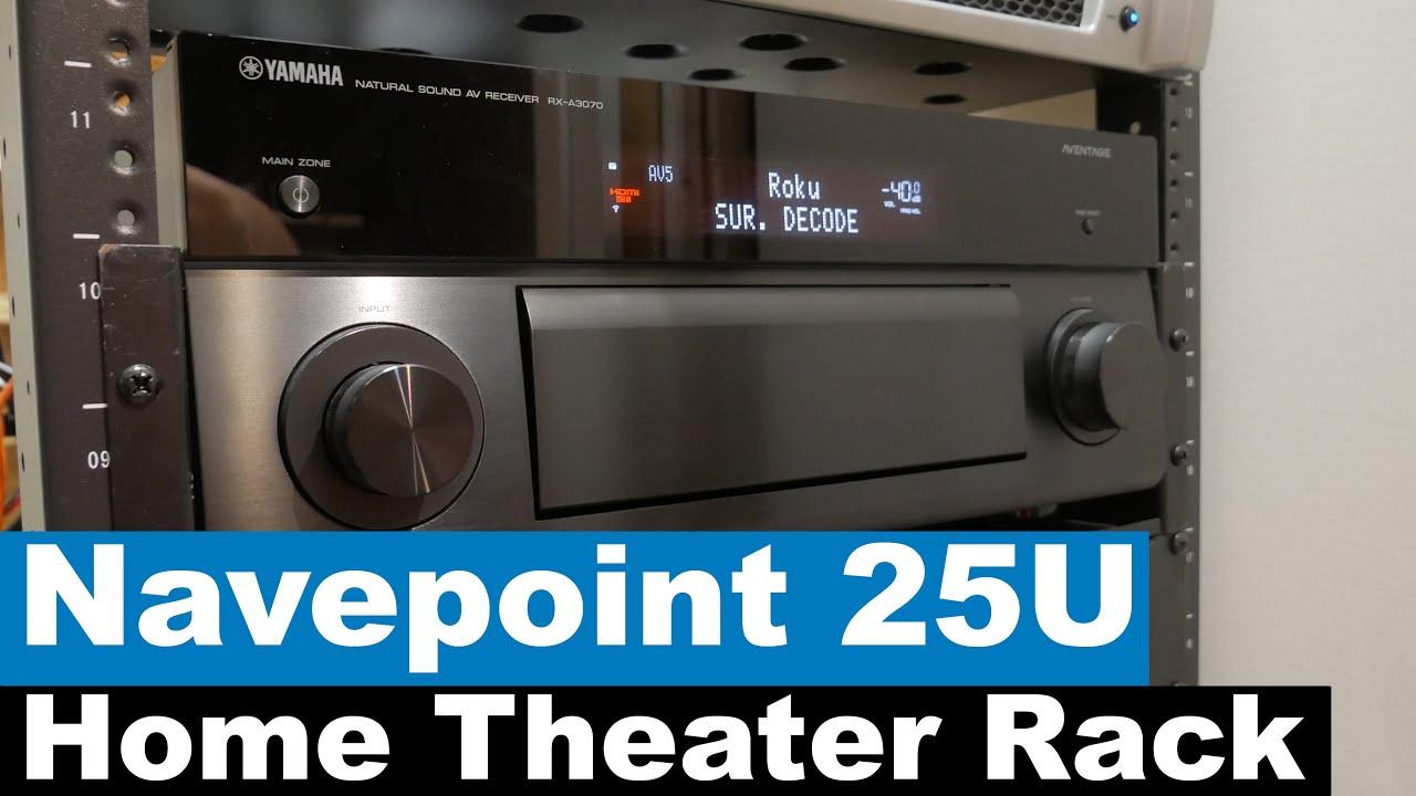 home theater equipment rack installation navepoint 25u rack media closet