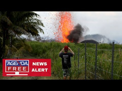 "Man Injured by ""Lava Bomb"" -- LIVE COVERAGE of Hawaii Volcano 5/20/18"