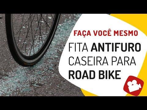Fita antifuro caseira para road bike. Pedaleria
