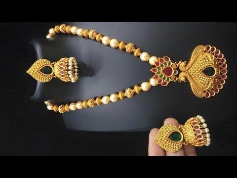 Antique Long Necklace Designs 2018
