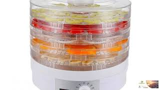 Dehydrator Fruit Vegetable Herb Meat Drying Machine Dehydrator with 5 trays EU/US/UK Plug FREE SHIPP