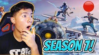 SEASON 7 LIVE REACTION + GAMEPLAY! | Fortnite Battle Royale NEW Season + Skins!
