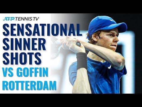 Sensational Jannik Sinner Shots In First Top-10 Win Vs Goffin! | Rotterdam 2020