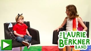 laurie berkner behind the scenes interview with charlie at the cat came back video shoot