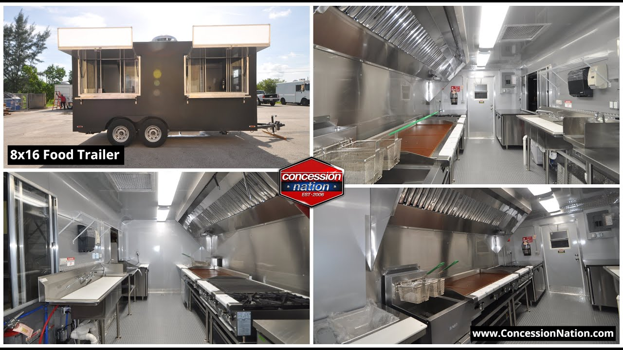 8X16 Concession Trailer For Sale   Concession Nation - YouTube