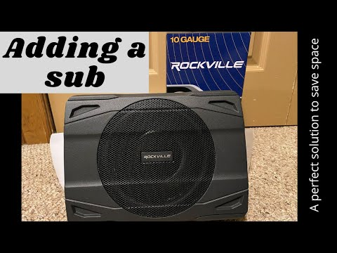 Sub Install Rockville SS8P (2017 Mitsubishi Outlander Sport)
