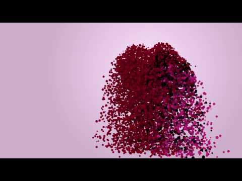 particles hearts - abstract valentine's day animation (  motion graphic , love )