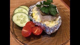 Рыба, запеченная с яйцами и сыром