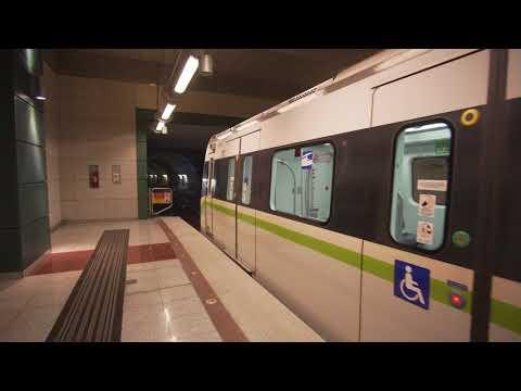 Greece, Athens, metro ride from Anthoupoli to Agios Antonios