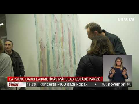 Latviešu darbi laikmetīgās mākslas izstādē Parīzē