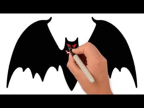 Vẽ Tranh Con Dơi Trong Ngày Lễ Halloween   How to Draw a Glitter Bat.