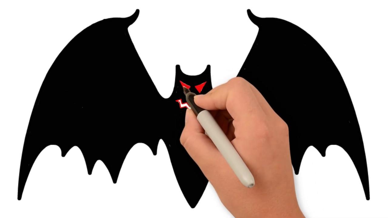 Vẽ Tranh Con Dơi Trong Ngày Lễ Halloween   How to Draw a Glitter Bat.   Khái quát các thông tin về hình vẽ con dơi chi tiết nhất