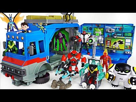 Dinosaurs broke into in Tayo town! Ben 10 alien Rustbucket transforming vehicle! Go! - DuDuPopTOY