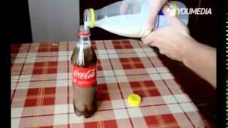 عجائب وغرائب الدنيا 2# هل حاولت من قبل خلط الحليب بالكوكا كولا ?