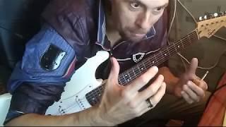 Барабанная дробь на гитаре с перегрузом _ Drumming on overload guitar