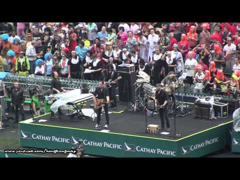 Marc Martel - Queen Extravaganza  HK Rugby Sevens  in HK Stadium Raw Footage 9