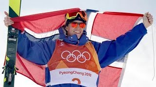 Oystein Braaten won the slopestyle skiing trial on Sunday at the Olympic Games in PyeongChang