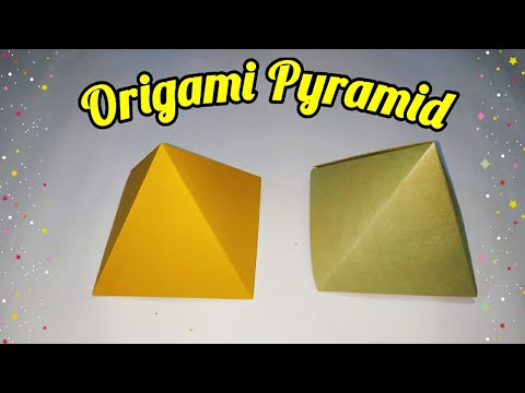 Origami Pyramid | How to  make Paper Pyramid (very easy ) | DIY Crafts | sweety trendzzz