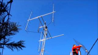 Montaż anten, 4x8el DK7ZB, EME, tropo, satelity