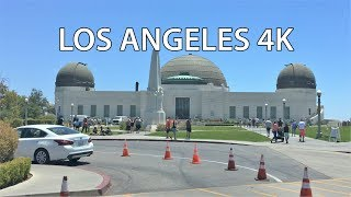 Los Angeles 4K - Griffith Park - Driving Downtown USA