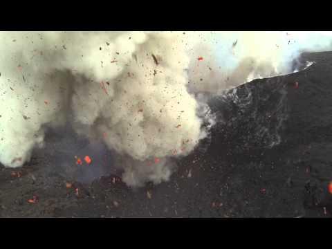Dji Phantom flies into Volcano