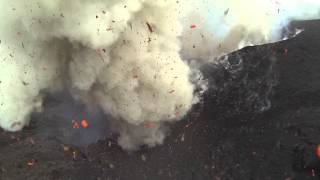 Dji Phantom flies into Volcano