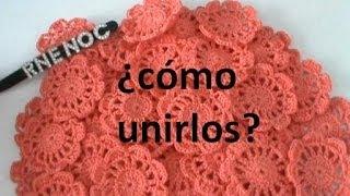 Repeat youtube video COMO #UNIR #FLORES #MOTIVOS COMPLETOS  #GANCHILLO #CROCHET