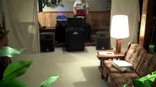 How the Peavey PR 12's sound with the Peavey PV 118 Subwoofer.